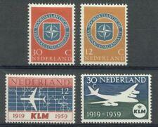 NVPH 720/21/29/30: NAVO + KLM 1959 postfris (MNH)