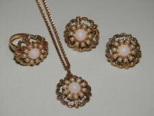 Gorgeous Vintage Designer SARAHCOV Demi Parure Set Ring Earrings Necklace #612
