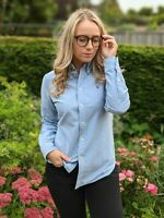 Ralph Lauren S Blue Oxford Shirt Women's Custom Fit Logo Smart Casual