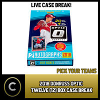 2018 DONRUSS OPTICAL BASEBALL 12 BOX FULL CASE BREAK #A367 - PICK YOUR TEAM