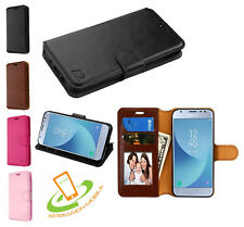 For Samsung Galaxy J7 2018 Leather Flip Wallet Card Slot Case Magnet Cover Pouch