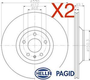 Rear Brake Discs 330mm fits Audi A6 4F2, C6 2.4 3.2 FSI 3.2 FSI quattro 2.7 TDI