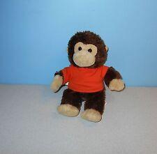 """10"""" Aurora Cocoa Monkey Plush in Promo Orange Longaberger Embroidery Shirt"""