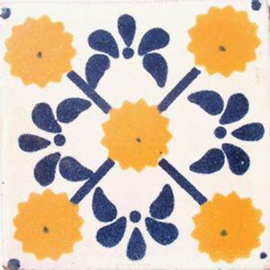 C#030) MEXICAN TILES CERAMIC HAND MADE SPANISH INFLUENCE TALAVERA MOSAIC ART