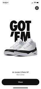 Nike Air Jordan 3 Fragment - Size 10.5