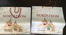 Nordstrom Empty Paper Shopping Bag Shopper Red Jewelry Handbag Vintage