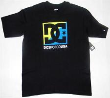DC Shoes Logo Youth Boys Cross Stars Short Sleeve Shirt Black