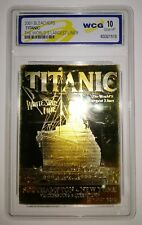 TITANIC Card 100th Anniversary Contians 500mg Solid 24Kt Gold Ship Boat New York