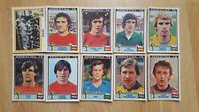 Panini WM 1978 Argentina 78 10 verschiedene Sticker