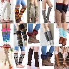 Women Ladies Winter Long Socks Knit Crochet Fashion Leg Warmers Legging Stocking