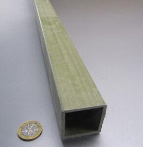 """Fiberglass Square Tube Green  1.50"""" Square x 1/8"""" Wall x 60"""" Length"""