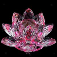 Porte-bougie En Verre Cristal Bougeoir Lotus Pour Bougie Candle Holder 8x5cm