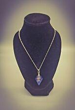 BLACK TOURMALINE ORGONE PENDANT Crystal Gem Elixir & Herkimer Diamond Necklace