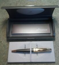 Parker 100 GT Smoke Bronze & Gold Ballpoint Pen, Boxed, Made in France.