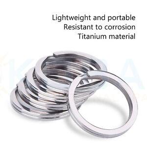UK Seller KEY RINGS 30mm Metal Silver Loop/Hoop Keyring O-Ring Holder