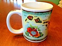 Vintage Hawaii Souvenir Collector Mug - State Map of Islands by Vintage Map