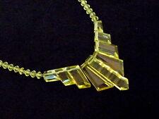 Wunderschöne seltene Art Deco Kette / Collier Glas Metall /um 1930/ RAR (WMF ?)