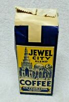 Jewel City Blend One Pound Blue And Yellow Paper Coffee  Bag