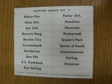 circa 1960's Subbuteo: Table Soccer - Scottish League Div 2 Club Names, Cut Out