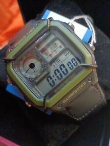 Men's Digital Quartz Watch with Bull Protection Metal Bars AE-1200WH-5AVEF Casio