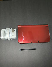 Nintendo New 3DS XL Red System with Charger -- Tested -- see pictures