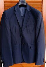 """Abito uomo completo blu satinato """"Glam..."""" - Tg.54- Slim fit - Made in Italy"""