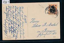 03661) Bahnpost Ovalstempel Jever - Carolinensiel ZUG 666, Karte um 1919