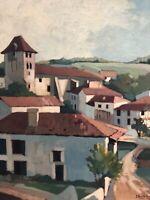 Dante ANTONINI Peinture Pays Basque Ancien Saint Jean de Luz Ciboure HST