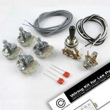 Lp / 335 Estilo Cableado Kit Poly Tapas 18mm Potenciómetros Alpha WK10
