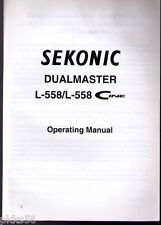 SEKONIC 558 / 558 CINE LIGHT METER INSTRUCTION (ORIGINAL PRINT JAPAN/not copies)