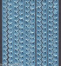 BLUE SHELL BORDER STRIP DRESDEN EDGING TRIM PAPER GERMAN FOIL EMBOSSED COLLAGE