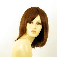 perruque femme 100% cheveux naturel châtain clair cuivré ref SEVERINE  30