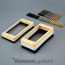 More details for 2 x curved base mounting rings & screws for epi les paul, es, humbucker surround