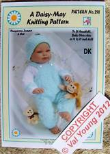 "DAISY-MAY DOLL'S KNITTING PATTERN 18""/19"" DOLL pattern No. 298 new for 2012"
