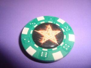 Burning STAR Multi-Color Fire-Flames Image Poker Chip Magnet Golf Ball Marker
