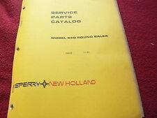 New Holland 858 Round Baler Original Dealers Parts Book
