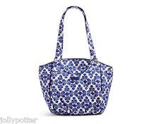 VERA BRADLEY Glenna Shoulder Bag COBALT TILE Tote Purse SuPeR PRETTY $68 NEW