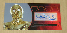 2015 Topps Star Wars Revenge Sith widevision Anthony Daniels autograph SILVER/15