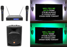 "Rockville 8"" Powered Pro Karaoke Machine/System w/LED's+(2) Wireless Microphones"