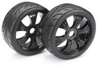 Absima Street Tyres on Black LP 1:8 Buggy Wheels - 1 Pair AB-2530003