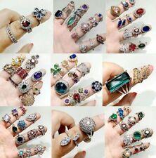 50Pcs Wholesale Rings Mixed Rings Bulk Finger Gemstones Crystal Jewelry Lots Us