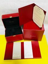 Cartier Watch Box Empty Red Gold High Grade Blank Warranty Genuine Presentation