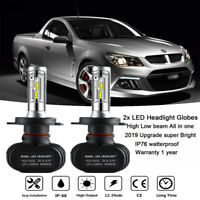 LED H4 Headlight Bulb Globe Pure White for Holden Caprice Commodore 1990-2003