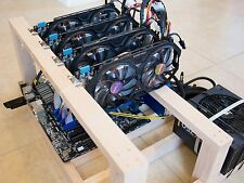 Crypto Coin Open Air Mining Frame Rig Case up to 6 GPU's ETH BTC Ethereum