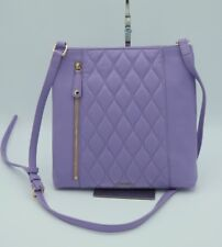 NWT Vera Bradley Purple Molly Quilted Leather Crossbody Bag Purse New