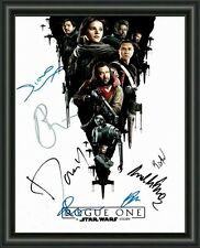 Star Wars - ROGUE ONE - CAST - A4 SIGNED AUTOGRAPHED PHOTO POSTER  FREE POST