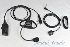 2-PIN D-Shape Headset for Kenwood Puxing Baofeng Radio with 2 PTT & Boom Mic 019