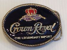 Crown royal belt buckle.gold platted.vintage 1994