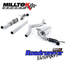 """MILLTEK TURBO SCARICO POSTERIORE MEGANE RS250 RS265 Cup 3"""" non RES Inc CAT SSXRN419"""