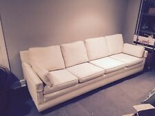Fantastic Mid-Century Modern Sofa, Off-White, Very Cool and 8 Feet Long!